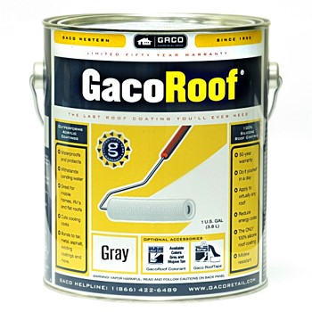 GacoRoof Protctive Roof Coating, Gray ~ Gallon