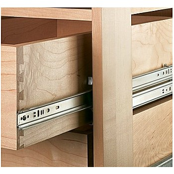 Drawer Slide/Side Track - Zinc ~ 18""
