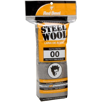 Steel Wool Pads,  #00 Very Fine  ~ 16 Pads/Pack