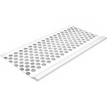 Genova Prod AW115 Plastic Gutter Guard,  White ~ 5 Lengths