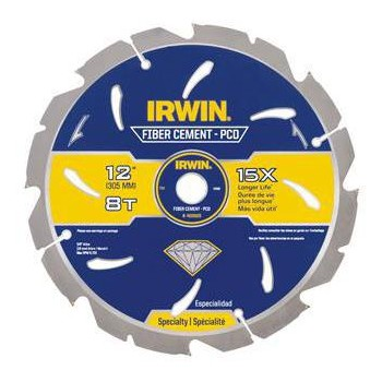 "Irwin 4935625 Fiber Cement Saw Blade ~ 12"" 8T"