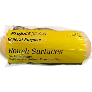 "Project Select General Purpose Polyester Blend Roller Cover, Rough Surface ~ 9"" x 1.25"" Nap"
