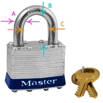 Laminated Padlock, Keyed Alike: 3 ~ Key Code 3221