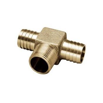 """Merrill Mfg RBHTNL1000 No-Lead Bronze Insert x MIP Hydrant Tee ~ 1"""""""