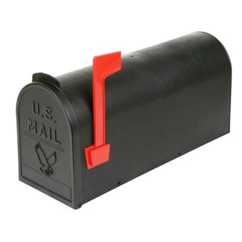 Flambeau T-R4501BL Rural Mail Box #1,  Black