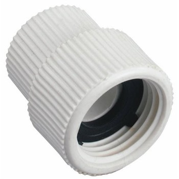 "Hose to Pipe Fitting, Swivel - Plastic ~ 1/2"" FIP x 3/4"" FH"