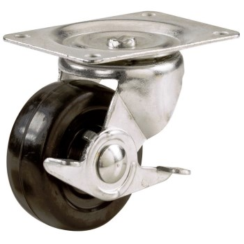 Hard Surface Swivel Caster with Brake ~ 2 1/2""