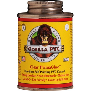 Gorilla  R-16000 Clear PVC Primer/Cement ~ 16 oz