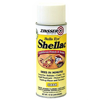 Rust-Oleum 00408 Zinsser Shellac Sealer & Finish, Clear ~ 12oz