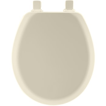 Toilet Seat, Round Molded Wood ~ Biscuit