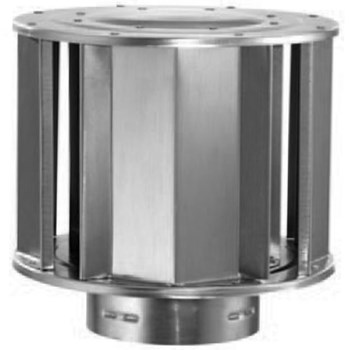 "Type B Gas Vent High Wind Vent Cap, Galvanized Steel ~  Fits 5"" Pipe"