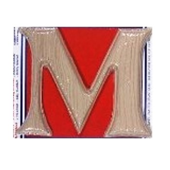 House Letter M,  Simulated Wood-Grain Letter ~ 7""