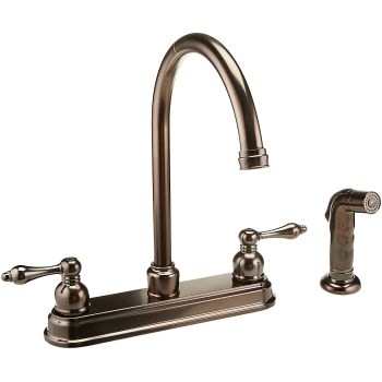 Kitchen Faucet w/Spray ~  Two Handle, Classic Bronze