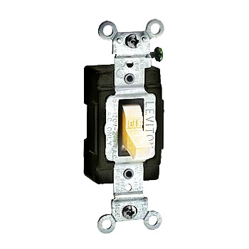 Side-Wired Light Toggle Switch ~ White