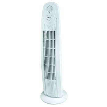 Comfort Zone Tower Fan, White  ~ 29""