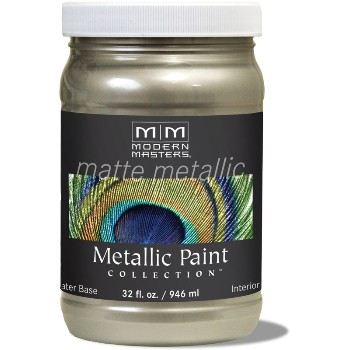 Matte Metallic Paint ~ Champagne, Quart