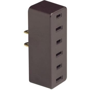 Triple Outlet Adapter, Brown ~ 15A-125V