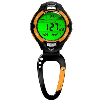 UV/Temp Sensor Clip, Orange Bezel, Carabineer Clip