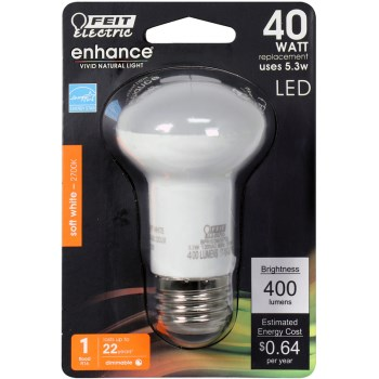 R16 LED Bulb, 400 Lumens ~ Dimmable