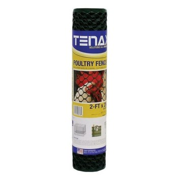 Poultry Fence Netting, Green ~ 2 Ft x 25 Ft