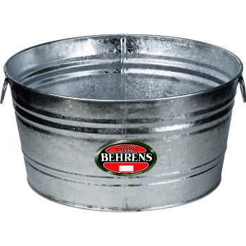 Behrens Mfg  1 Galvanized Round Tub ~  10.5 Gallons