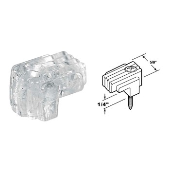 "Clear Mirror Clips,  Fits 1/8"" to 1/4"" Glass"