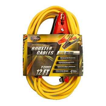 Booster Cable - 8 gauge - 12 feet
