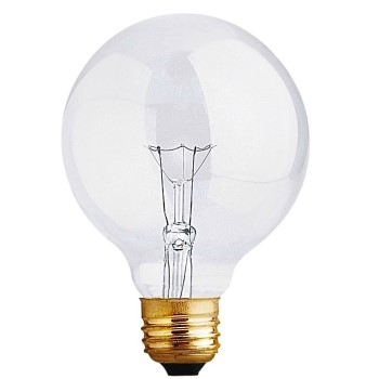 Feit Elec. 40G25 Bath & Vanity Clear Globe Light Bulb, ~ 120v/40w