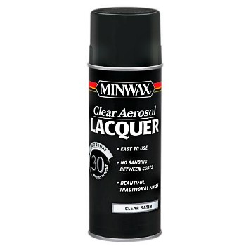 Aerosol Lacquer, Clear Satin~12.5 oz Cans