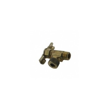 Compression Angle Needle Valve - Brass - 1/4 x 1/8""