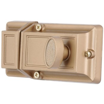Surface Deadbolt, Single Cylinder - Brass