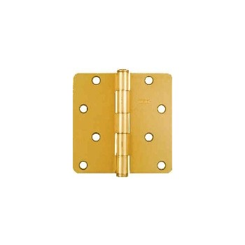Satin Brass Door Hinge, Visual Pack 512 rc 4 x 4 inches