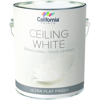 California Prod/grayseal 55500-1 Super Flat Ceiling Paint, White ~ Gallon