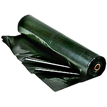 Black Poly Polyethylene Sheeting, 16' x 100 Ft x 6 Mil