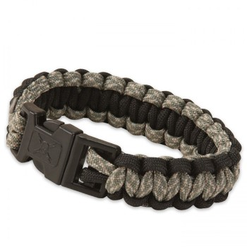 Elite Forces Paracord Bracelet, Dark Camo