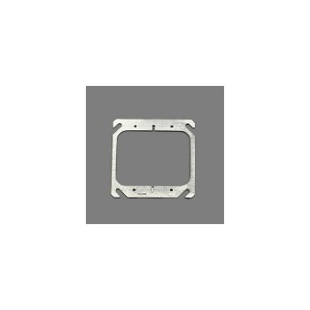 Square Mud Ring, Flat 2 Gang 4 inch