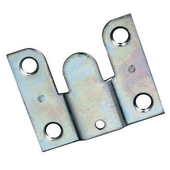 "Flush Mount Hanger,  Zinc Plated ~ 1.75"" x 1.5"" ~ Pack of 2"