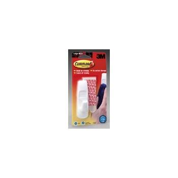 3M 051131651425 Adhesive Hooks - Large White Hook