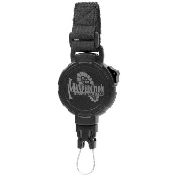 Tactical Gear Retractor, Large, Strap, Black