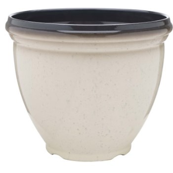 Heritage series Resiin Planter,  Ivory ~  Approx 12""