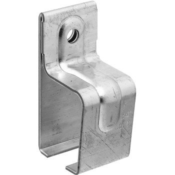 Barn Door Single Box Rail Bracket, Galvanized
