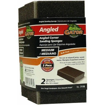 "Ali Industries 7116 Angled Corner Sanding Sponges, 2.5"" X 5"" X 1"""