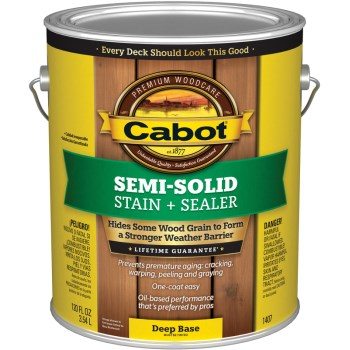Semi-Solid Decking Stain,   Deep Base ~ Gallon