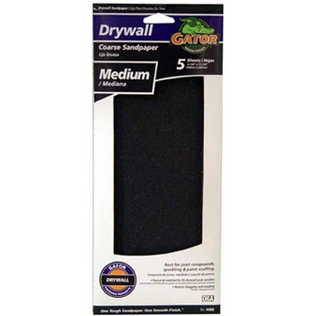 Drywall Sandpaper Sheets, Medium Grit ~ 4 1/4 x 11 1/4 inch