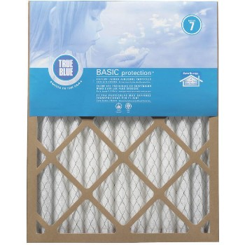 "ProtectPlus 216251 True Blue Basic Pleated Filter ~ Approx 16"" x 25"" x 1"""
