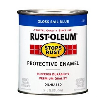Rust-Oleum 7724502 Protective Enamel, Sail Blue ~ Quart
