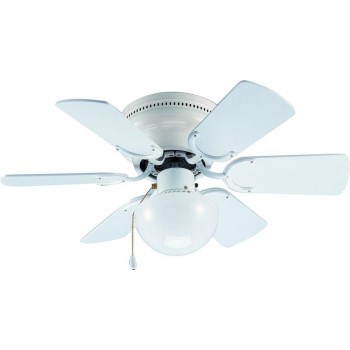 Arcadia Design Ceiling Fan, Gloss White ~ 6 Blades