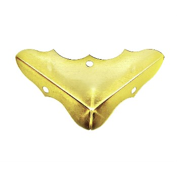 "Decorative Corners,  Brass  - 5/8"" x 1.75""  ~ 4/Pk"