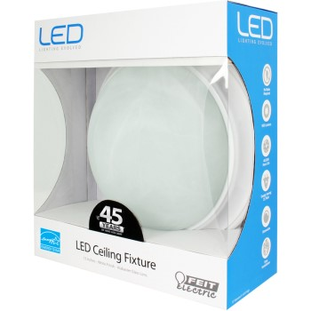 Round LED Ceiling Fixture, White ~ 13""