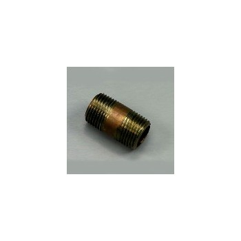 Nipple - Red Brass - 0.5 x 1.5 inch